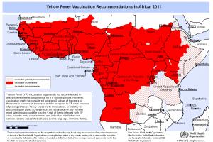 Das Gelbfieber ist eine durch Stechmücken übertragene Viruskrankheit. Sie kommt in Afrika und Südamerika vor, nicht in Asien.